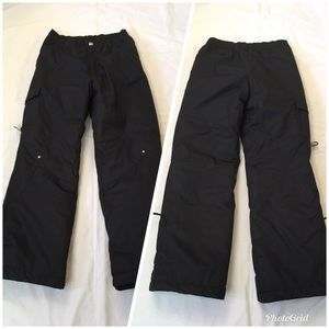 Zero X Posur black cargo snow pants